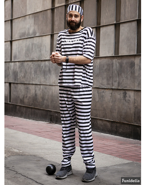 Prisoner costume plus size