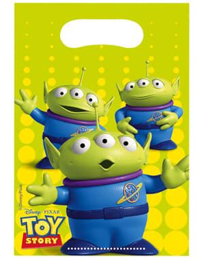 Sett med 6 Toy Story Stjerne Kraft Poser