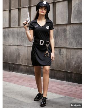 Moterų Policijos kostiumas plius dydis