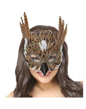 Mască pentru ochi venețiană de bufniță pentru adult