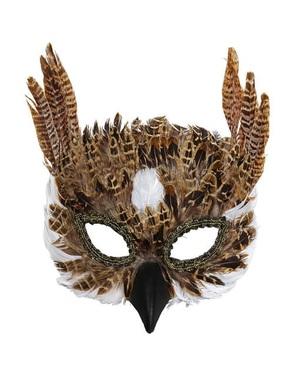 Mask venetiansk uggla för vuxen