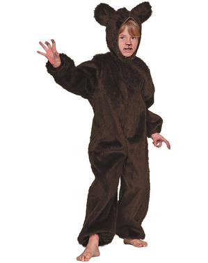 Fato de urso peludo infantil