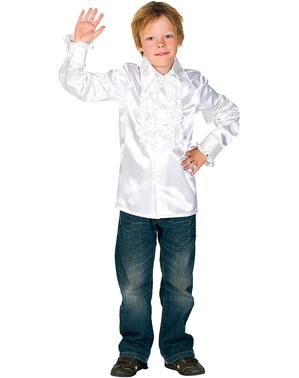 Wit 70's disco shirt voor kinderen