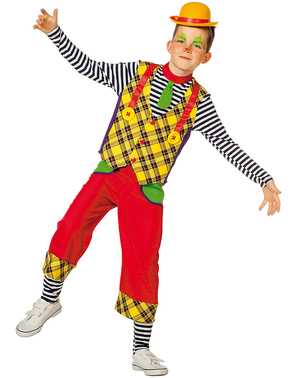 Yellow clown costume for boys