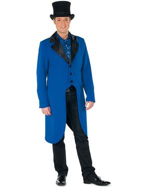 Blått dyretemmer frakk til menn