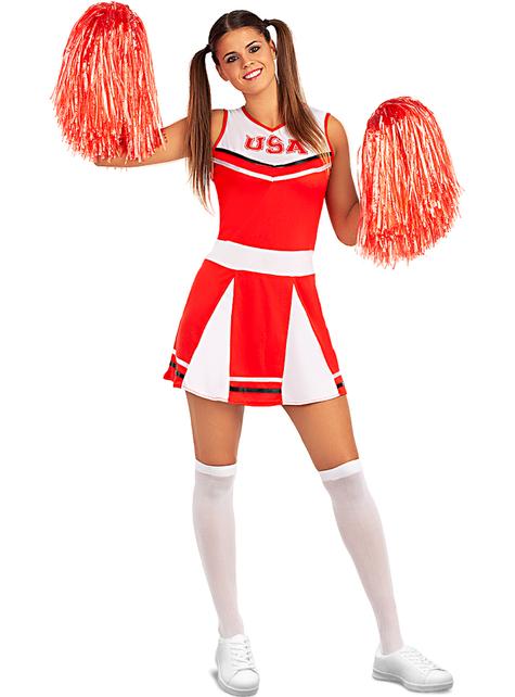 Grote maat Cheerleader kostuum