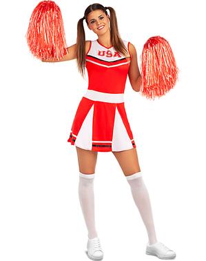 Fato de cheerleader tamanho grande