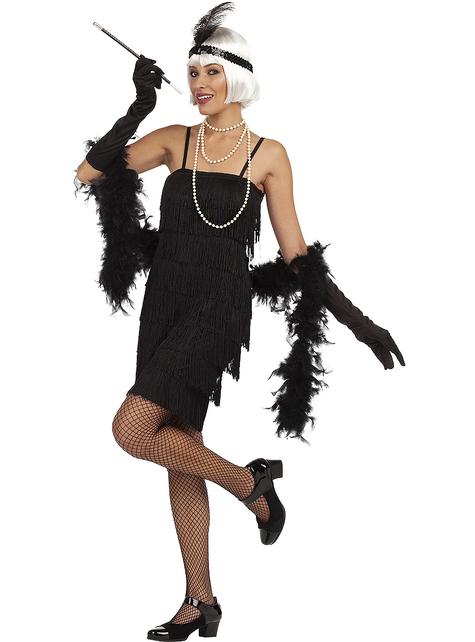 Disfraz de charlestón años 20 para mujer talla grande