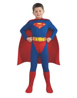 Superman superheltekostume til drenge