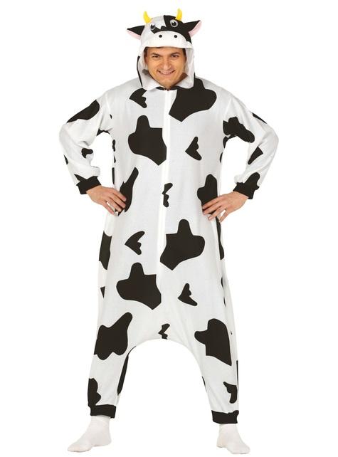 Disfraz de vaca onesie para adulto