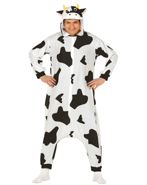 Cow onesie costume for adults