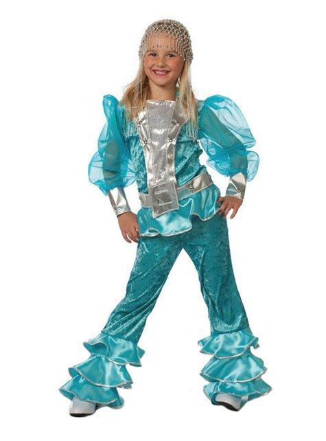 Blauw Mamma Mia kostuum voor meisjes - Abba