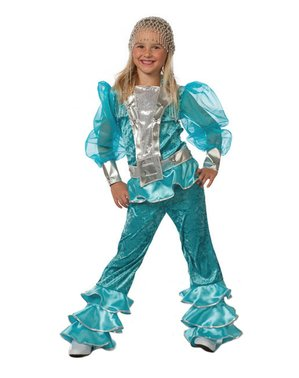 Zielony Strój z Mamma Mia dla dziewczynek - Abba