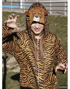 Costum de tigru onesie pentru adult