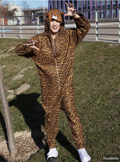 Kostium tygrys Onesie dla dorosłych
