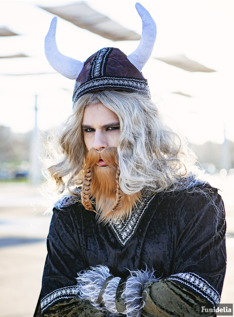 Adult's Red Viking Beard and Moustache