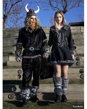 Kostium elegancka kobieta-wiking damski