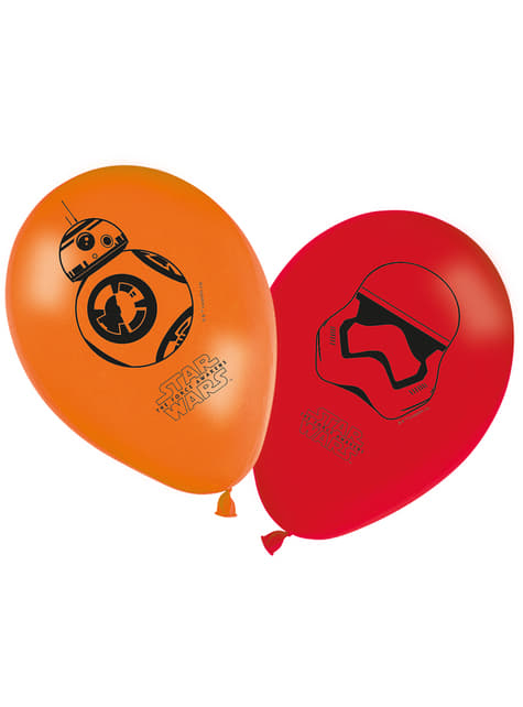 8 Star Wars The Force Awakens Balloons (30 cm)