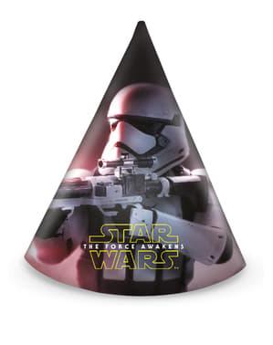 Set 6 feesthoedjes Star Wars The Force Awakens