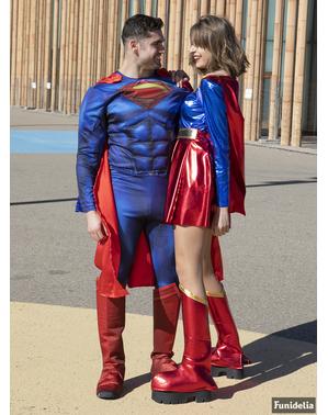 Fato de Supergirl sexy para mulher tamanho grande