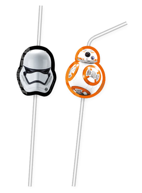 6 pailles Star Wars The Force Awakens