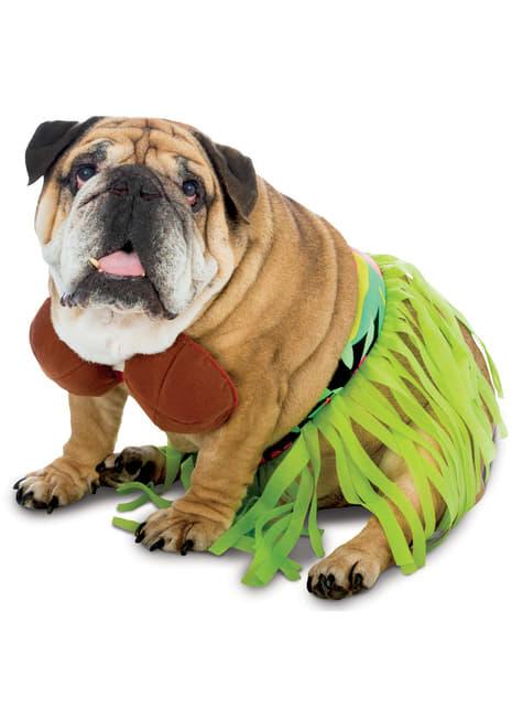 犬のハワイアンコスチューム