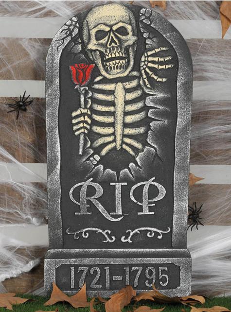 Náhrobní kámen RIP 1721-1795