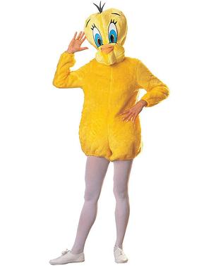 Deluxe Looney Tunes Tweety kostyme til voksne