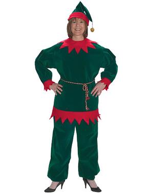 Fato de elfo natalício tradicional para adulto