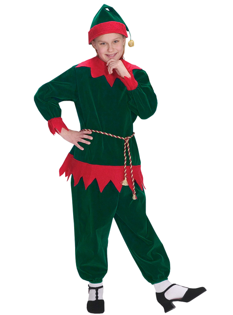 Traditional Christmas elf costume for kids