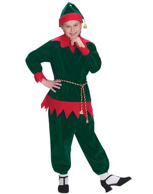 Disfraz de elfo navideño tradicional infantil