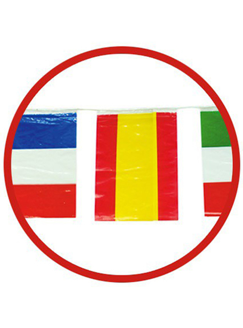 50m Γιρλάντα με Μεγάλες Διεθνείς Σημαίες