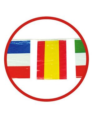 Ghirlanda di 50 m Bandiere Internazionali grandi