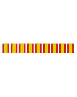 Guirlande med store spanske flag 50 m.