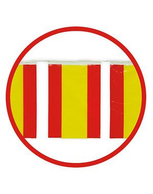 Guirlande 50 m. Grands drapeaux Espagnols