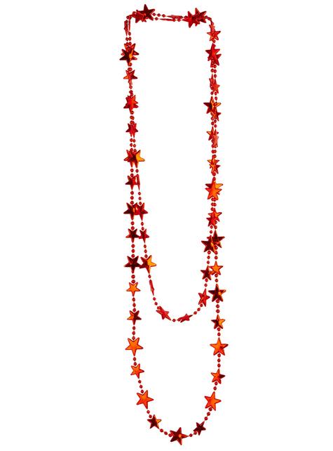 Collar de estrellas rojas