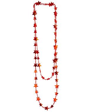 Náhrdelník červené hvězdičky