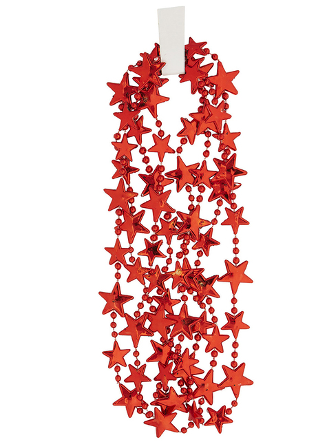 Naszyjnik czerwone gwiazdy