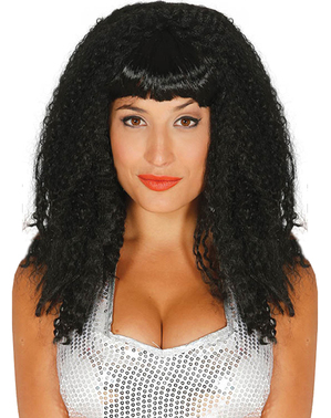 Perruque pop star brune femme