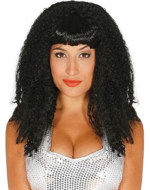Жінка брюнетка поп-зірка перуку