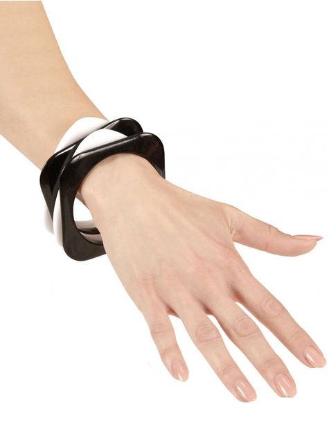 4 bracelets disco femme