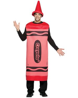 Costume da pastello crayola rosso per uomo
