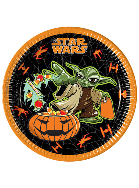 8 assiettes Star Wars Halloween