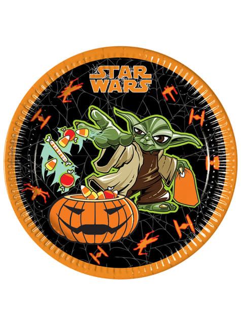 Set de 8 platos Star Wars Halloween