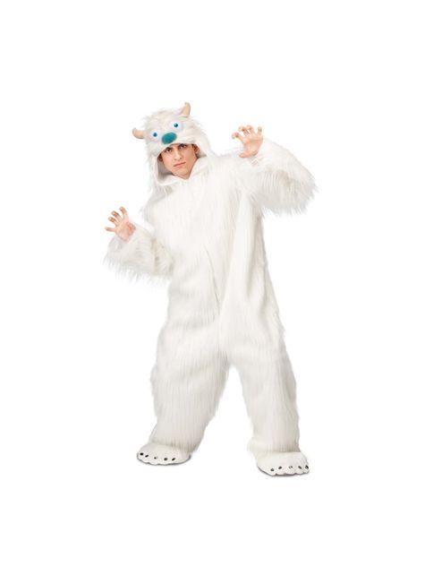 Yeti kostuum voor volwassenen
