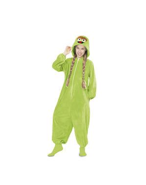 Oscar the Grouch fra Sesame Street Onesie kostyme til barn