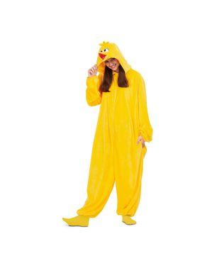 Big Bird fra Sesame Street Onesie kostume til voksne
