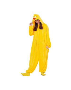 Déguisement Big Bird Sesame Street onesie adulte
