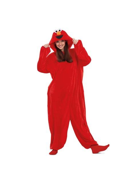 Strój onesie Elmo dla dorosłych Ulica Sezamkowa