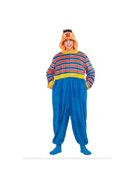 Disfraz de Epi Barrio Sésamo onesie para adulto